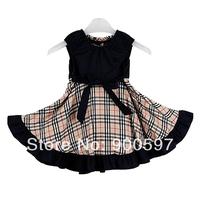 2014 Brand girls dresses children dress children girl beautiful cotton fashion dress baby girl's dresses kids clothes hot sale