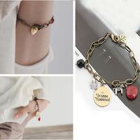 2014 New Style Hot Sale Fashion Leaves Original Stone Women Bangles & Bracelets SLB299