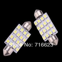 10pcs 36mm 39mm 41mm 31mm 3528/1210 16 SMD LED Car Dome Festoon Interior Light Bulbs Auto Car Festoon LED Roof Car Light