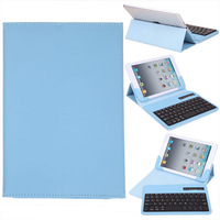 4Colors Wireless Removable Bluetooth Keyboard Portfolio Leather Case Cover For Apple iPad 4 3 2
