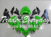 Free gift with all the bolts and screws fits for ZX10R 04 05 ZX 10R 2004 2005 Green Black 12J10 fairing