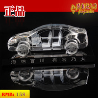 Crystal car model personalized decoration sculpture gift business gift diy sedan general