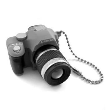 Single Lens Reflex DSLR Camera Style LED Flash Light Shutter Sound Keychain,Random Color(China (Mainland))