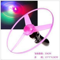 Luminous pull flash electronic lamp big flying saucer ufo frisbee 25cm toy