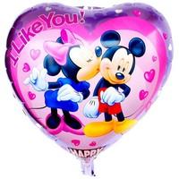 50pcs/lot High Quality 18inch Cartoon Mickey Mouse Peach Heart Foil Balloons Wedding Party Decoration Balloon Helium Balloon