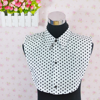 2014 new fashion polka dot shirt female false collar  shirt 100% cotton women 72