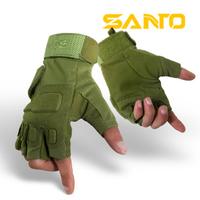 Mountain bike ride semi-finger wear-resistant semi-finger slip-resistant gloves tactical gloves hiking outdoor
