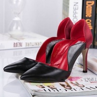 women's shoes 2014 spring  new single shoes suede stiletto hollow silk shoes women pumps