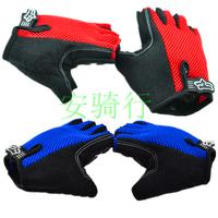 Bicycle mountain bike road bike ride sports semi-finger summer gloves outdoor ride supplies