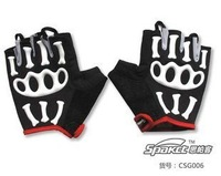Spakct 3d semi-finger joint skull gloves bicycle ride supplies