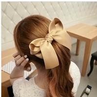 Free shipping 3pcs/lot Big bowknot hair clips Elegant Barrette Fashion hair wear Nice hair accessories Brand new hair ornaments