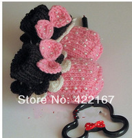 Free shipping baby mickey   shoes newborn shoes handmade crochet photography props newborn baby shoes