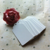 4 * 7 cm White cardboard square flower head tag Baking listing marks a blank tag marked cards Product card hand-painted cards
