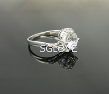 SGLOVE 925 Sterling Silver Series 100 Austrian Crystals Interlocking Pure LOVE Engagement Ring Wholesale Jewelry mixed