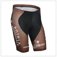 Free Shipping New 2014 AG2R La Mondiale Team Men Cycling Jersey Short Bibs Quick Dry Breathable Riding Bike Cycling Shorts Pants