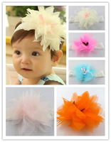 Free Shipping Baby's Headbands Girl's 4 Colors Chiffon Hair Accessories(4 Pack)