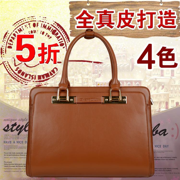2014 women's genuine leather handbag one shoulder fashion handbag women's professional package commercial cowhide messenger bag(China (Mainland))