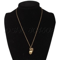 Retro Personality Men's Anatomy Heart Shape Pendant Necklace