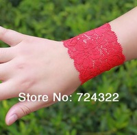 20pairs summer women lady Sunscreen sport lace wristband protect Tattoos cover scars wrist guards support Free Shipping