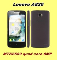 lenovo A820 4.5 inch 960*540 mtk6589 Quad Core RAM 1+4GB Android 4.1 smart phone Original Support Russian Multi Language