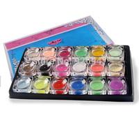 18 Mix Color nail art false French tips Salon artist Acrylic powder Dust SET