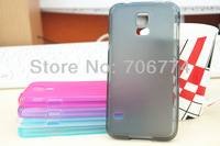Factory Price TPU Matte Soft Back Clear Frame 5 Mix Colors Cases Case For Samsung Galaxy S5 SV i9600 Cover Skin 150pcs/lot