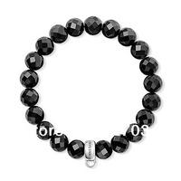 wholesale hot selling ts Bracelet  cheap jewelry factory price Black cut into the bead bracelet tsb0021