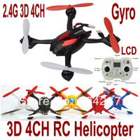 New Arrival Hot New Mini 2.4G 4CH 6 Axis Gyro 3D RC Remote Control UFO Helicopter Free Shipping & Wholesale