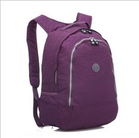 0409#  Free shipping Fashion Nylon solid school backpack quality  women sports bag huge capacity  backpack