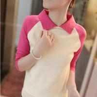 2014 spring sweater women's slim basic shirt plus size sweater top long-sleeve T-shirt