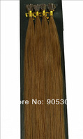 "Remy AAA Stick Tip 100 Strands 26""=66cm Long 0.5g/s 100% Human Hair Extensions #08 Chestnut Brown&50g"