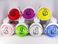 2pcs/lot,2014 New arrival 7 colors 360A Fashion Sports thumb Earphone Headphone Wireless TF card FM  MP3 Player Earphone Headpho