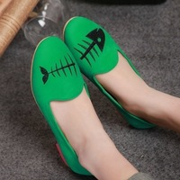 women's shoes 2014 spring  new women's leather shoes comfortable casual flat shoes