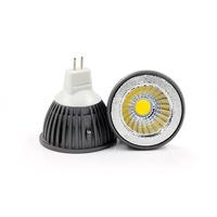 10PCS 6W MR16 cob led spotlight  bulb Warm white ,white AC12V free shipping