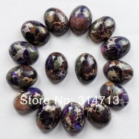 15pcs Sea Sediment Jasper & Pyrite Oval CAB CABOCHON 20x15x6mm B1377