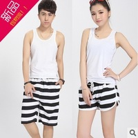 free shipping  New arrive Stripe lovers beach shorts