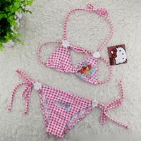 wholesale pink plaid baby girls swimsuit winx Bikini Swimwear  pink kids summer Beachwear (3T-12T) 5pcs/lot