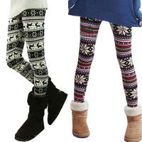 Ladies Winter Retro Knitted Snowflakes Multi-Colors Figure Leggings Free shipping & Drop shipping