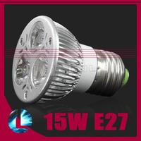 5pcs/lot Dimmable CREE LED 3*5w 15w E27 E14 High Power Lamp Spotlight Bulb cool/ warm white light 90-260V