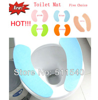 5 Pairs/Lot Toilet set maternity comfortable soft toilet mat toilet sets Stick-on Toilet Seat Cover 11 Styles free Drop Shipping