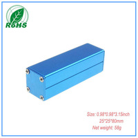 Hot selling! aluminum enclosure diy amplifier chassis case electronics box 25*25*80mm 0.98*0.98*3.15inch
