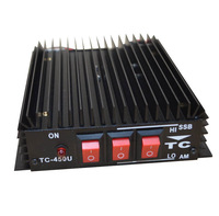 Professional 50W UHF Power Amplifier with 10MHZ Frequency space