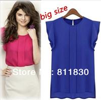 Women New Fashion 2014 Summer Spring Brand Design Women's Clothes casual Tops T-shirts Plus Size Women Chiffon Blouses & Shirts