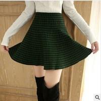2014 New Fashion Women's Plaid Skirt