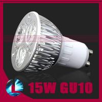 5pcs/lot CREE led bulb GU10 15W 3*5w 110V 220V Dimmable Lamp led light spotlight free shipping