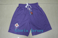 Best Thai Quality 2014 Fiorentina home Purple Soocer Shorts 13/14 Florence Soccer Pants Thai Quality Men Sports Ruuning Shorts