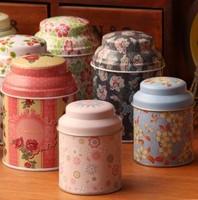 Free shipping 6pcs/lot flower storage tin box jewelry box small portable tea box 6.8*9.7cm