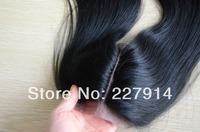 Cheapest middle part silk base closure 4''x4'',virgin brazilian hair lace top closure unprocessed hair swiss lace hidden knots