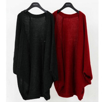 WCT68 Women's Batwing Dolman Cropped Cardigan Sweater Knit Bolero Poncho Cape Coat New