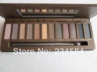 free EMS 24pcs/lot Nake 1 12 colors 2014 brand new Professional Makeup NK1 Luminous Eye shadow NAKE eyeshadow 1 palette